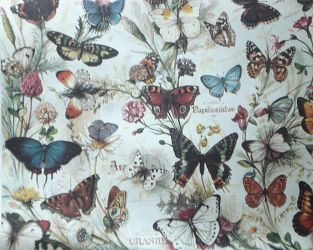 Gift Wrapping Paper. Large Size 1m x 0.7m. Butterflies Design
