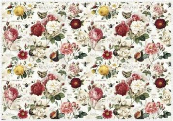 Gift Wrapping Paper. Large Size 1m x 0.7m. Roses Design