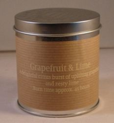 Grapefruit & Lime Scented Candle in a Tin