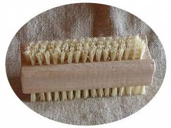 Nail Brush, Double sided, Beech body