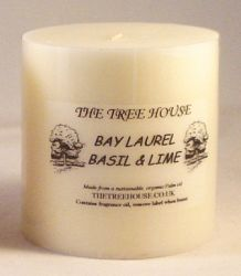 Organic Palm Oil Candle (7.5cm x 7.5cm) Bay Laurel, Basil & Thyme Scented