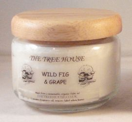 Pop Jar Candle with Hardwood Lid (Wild Fig & Grape) 325ml