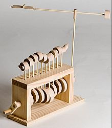 The Caterpillar, Self Assembly Automaton Kit from Timberkits