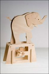 The Elephant, Flatbit Automaton Kit from Timberkits