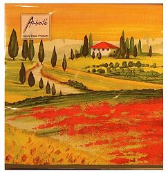 Tuscany Scene Design Three Ply Paper Napkins (20)